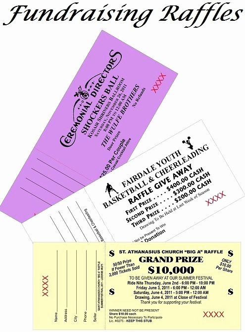 Raffle Ticket Samples for Fundraisers Unique 14 Best event Tickets Ticket Printing Images On
