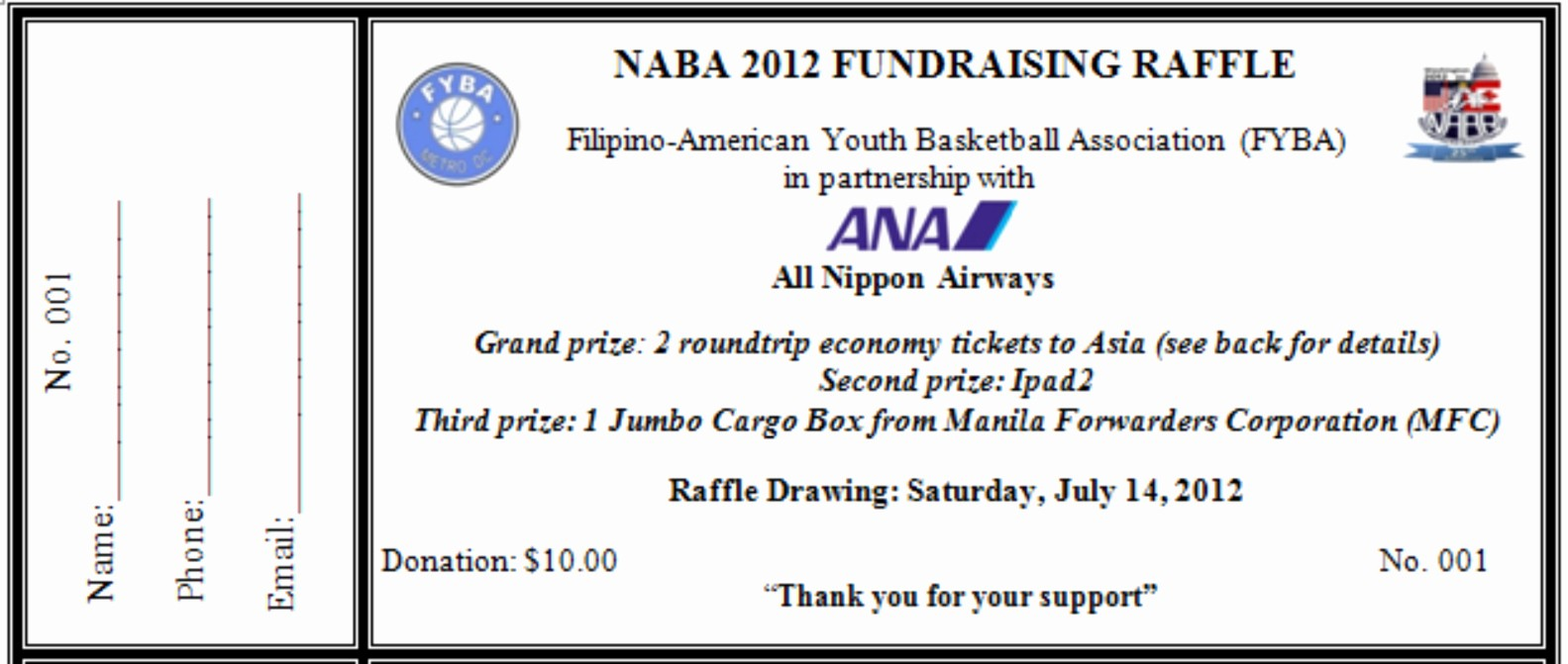 Raffle Ticket Samples for Fundraisers Unique Benefit Ticket Template Bing Images