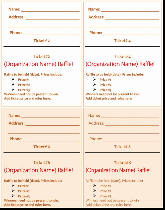 Raffle Ticket Samples Templates Free Beautiful 20 Free Raffle Ticket Templates with Automate Ticket
