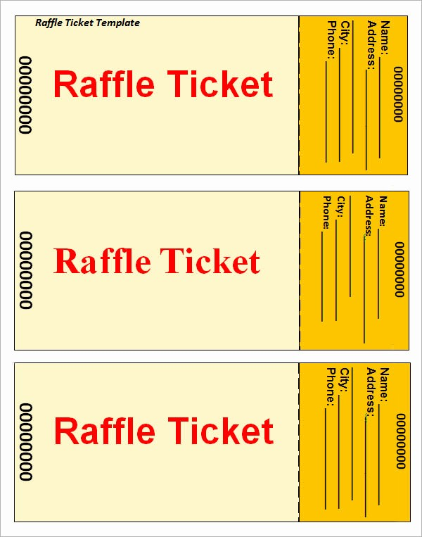 Raffle Ticket Samples Templates Free Beautiful 23 Raffle Ticket Templates – Pdf Psd Word Indesign