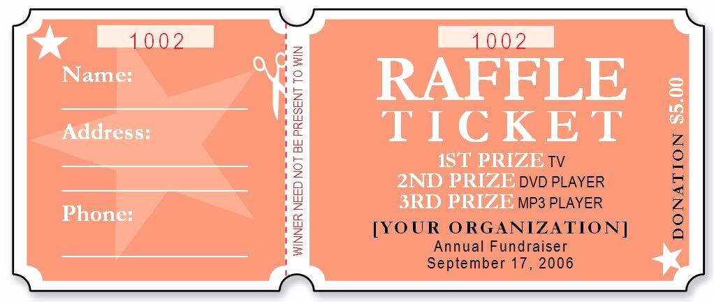 Raffle Ticket Samples Templates Free Elegant Sample Raffle Ticket Templates