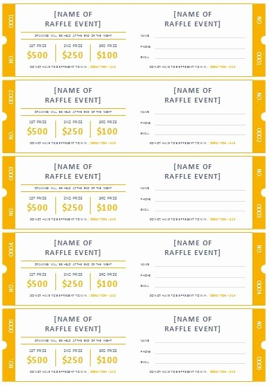 Raffle Ticket Samples Templates Free Lovely Free Printable Raffle Ticket Templates