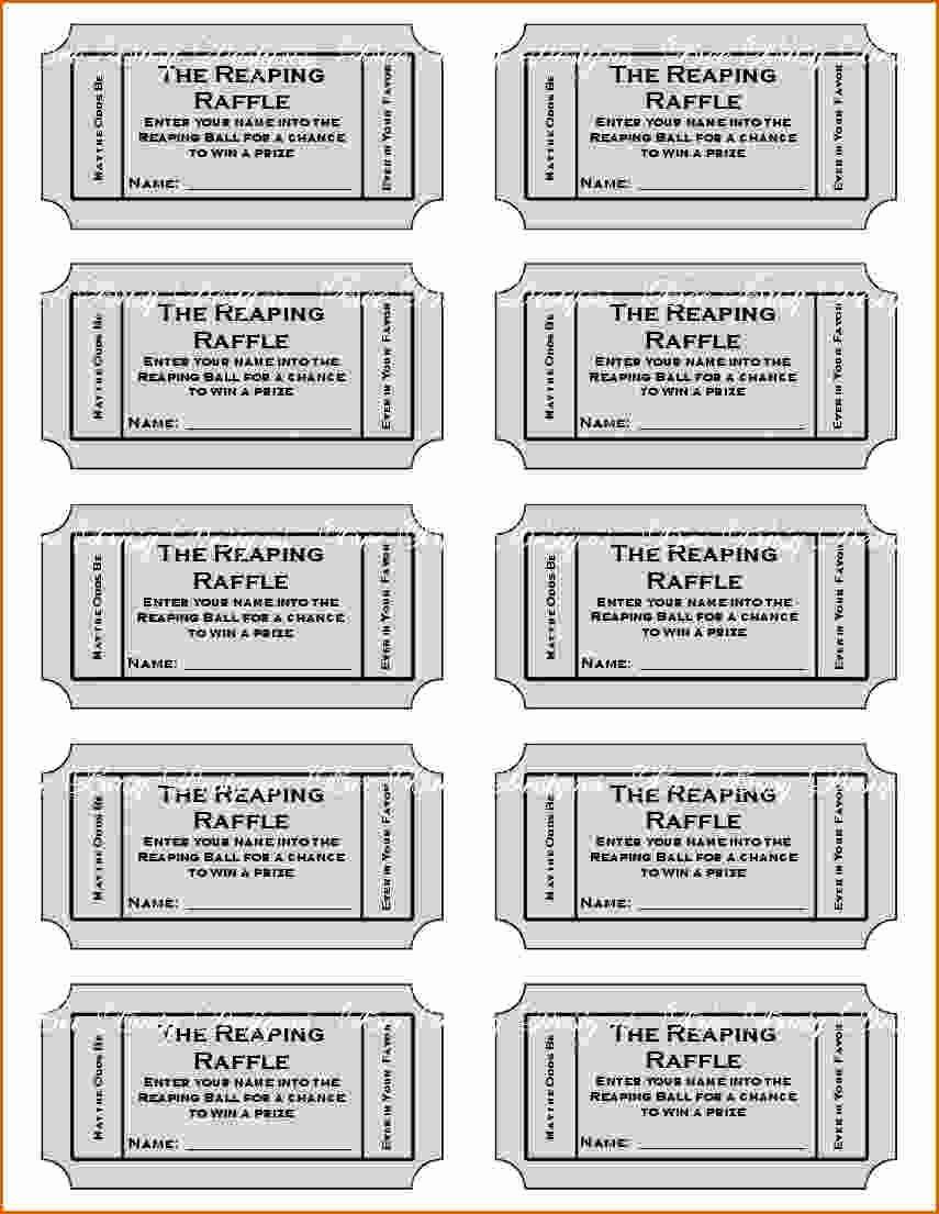 Raffle Ticket Samples Templates Free Luxury 11 Free Printable Raffle Ticket Template