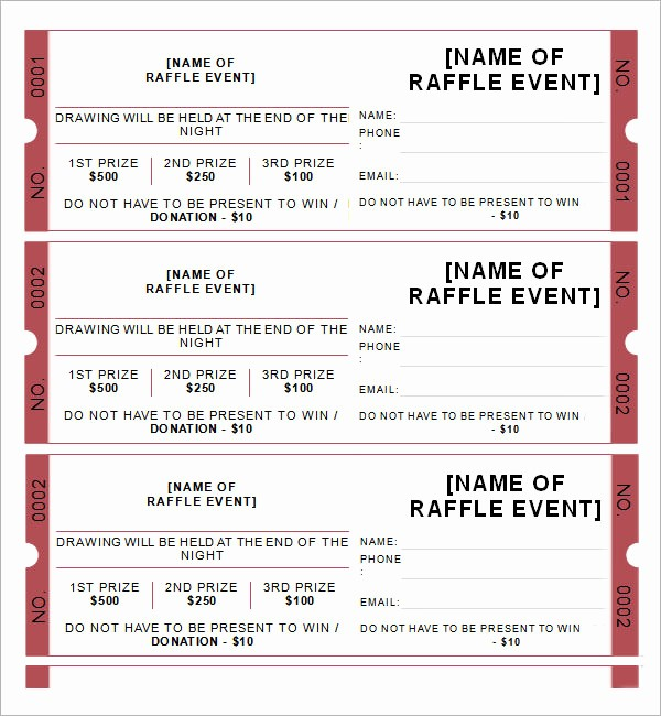 Raffle Ticket Samples Templates Free New 23 Raffle Ticket Templates – Pdf Psd Word Indesign