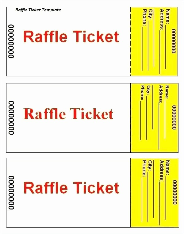 Raffle Ticket with Stub Template Beautiful Raffle Stubs Ticket Stub Sample – Stormcraft