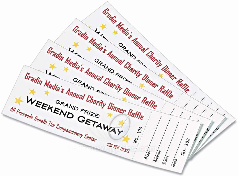 Raffle Ticket with Stub Template Best Of 7 Best Of Avery Raffle Tickets Printable Avery