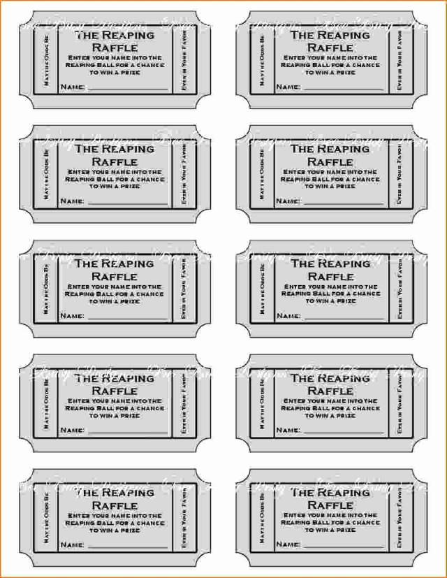 Raffle Ticket with Stub Template Luxury Free Printable Raffle Tickets with Stubs Free Download