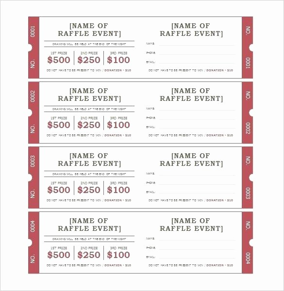 Raffle Ticket with Stub Template Luxury Raffle Stubs Ticket Stub Sample – Stormcraft