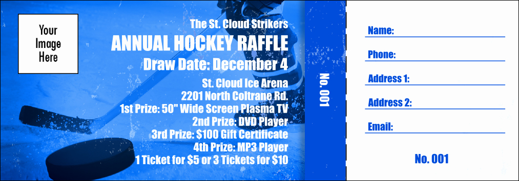 Raffle Ticket with Stub Template New Hockey Fundraiser Raffle Ticket