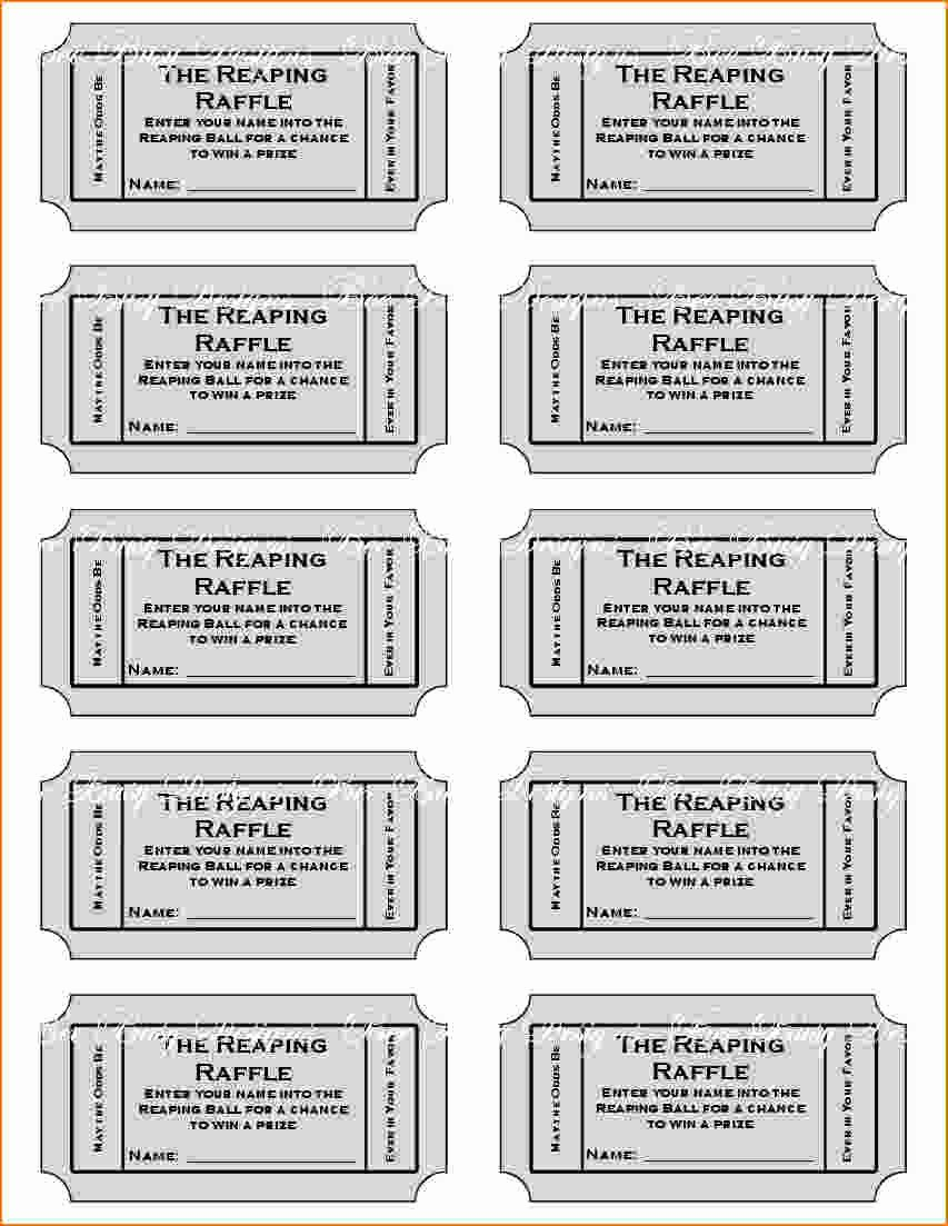 Raffle Ticket with Stub Template Unique 6 Free Printable Raffle Tickets Template