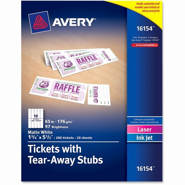 Raffle Ticket with Stub Template Unique 7 Best Of Avery Raffle Tickets Printable Avery