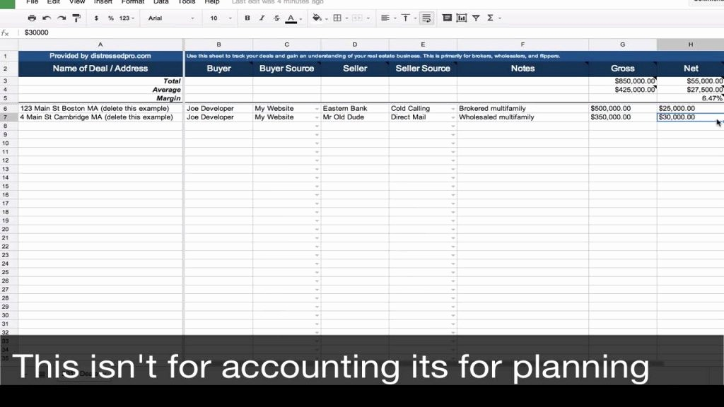 Real Estate Balance Sheet Example Best Of Free Real Estate Transaction Tracker Spreadsheet Template