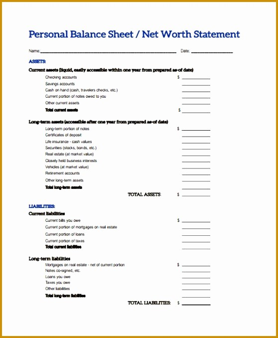 Real Estate Balance Sheet Example Elegant 7 Real Estate Balance Sheet Template