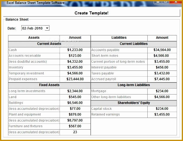 Real Estate Balance Sheet Example Fresh 7 Real Estate Balance Sheet Template