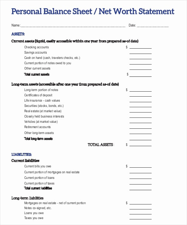 Real Estate Balance Sheet Template New 18 Balance Sheet Examples Download In Word Pdf