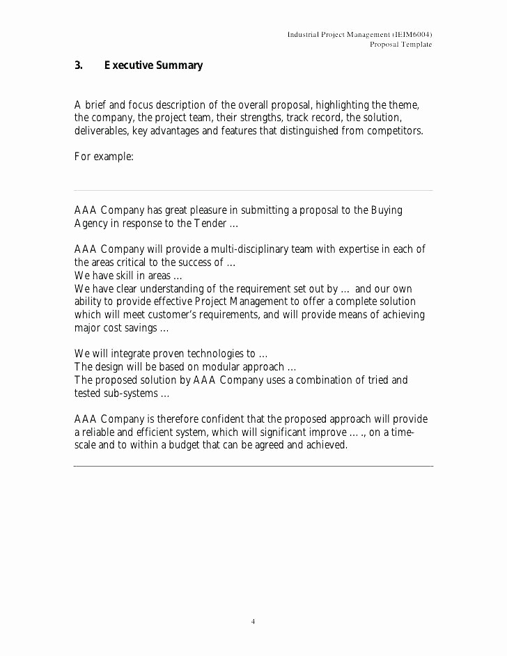 Real Estate Executive Summary Template Fresh Construction Business Plan Template Free Word Excel