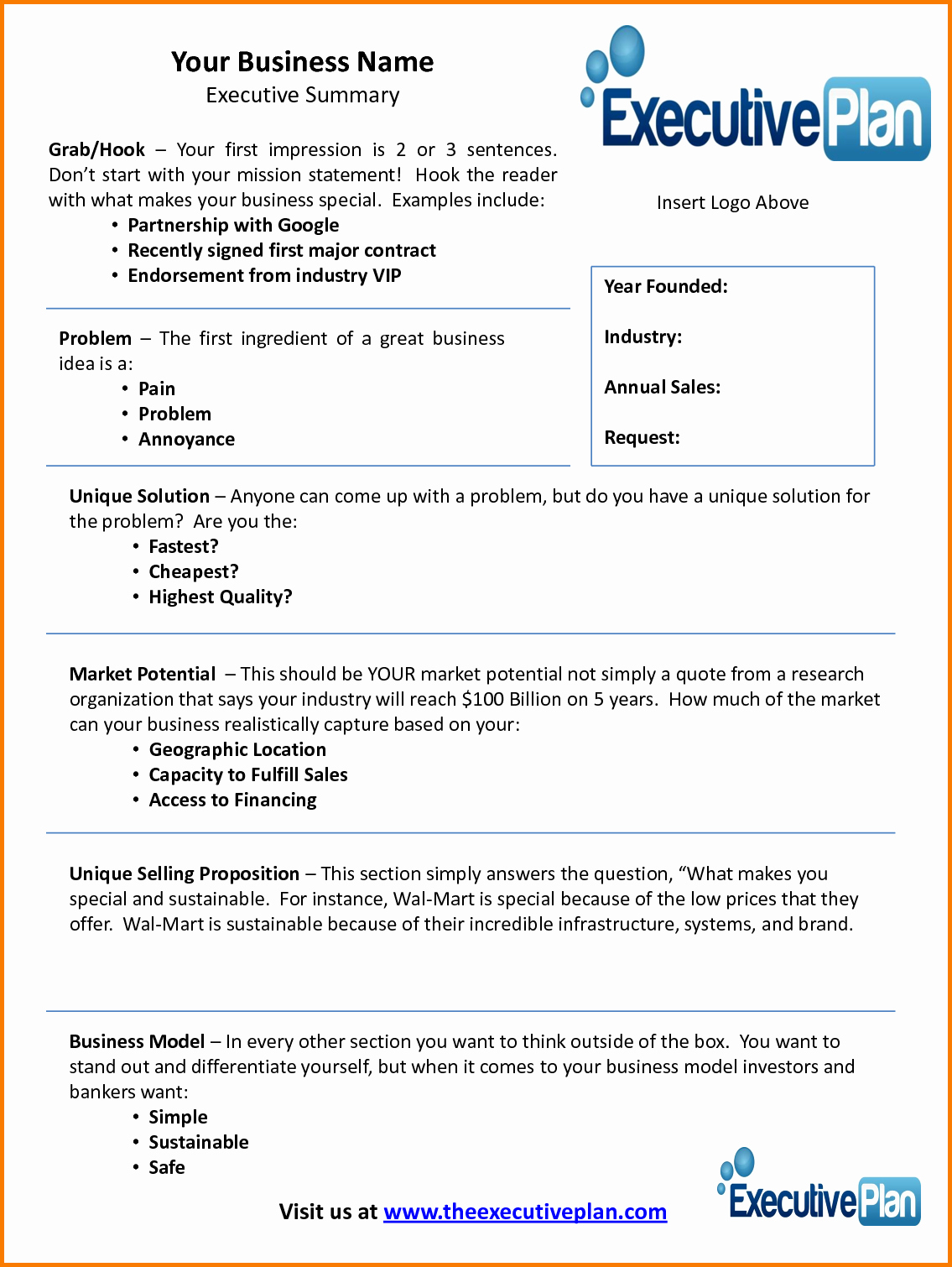 Real Estate Executive Summary Template Inspirational 6 Executive Summary Template