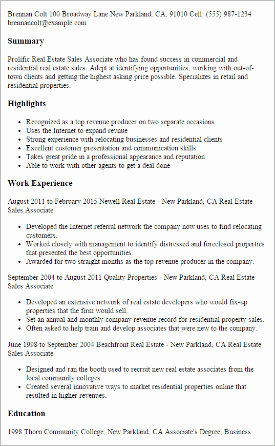 Real Estate Executive Summary Template Luxury Home Sales Resume