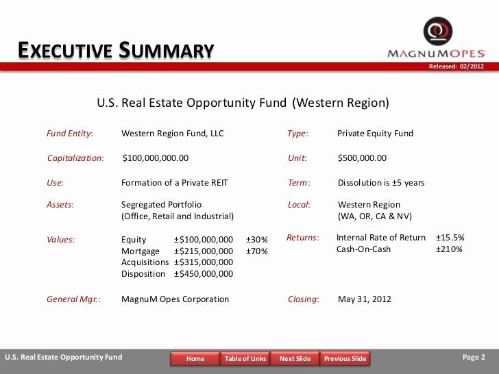 Real Estate Executive Summary Template Unique Investment Memorandum Narrated