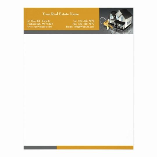 Real Estate Letterhead Templates Free Beautiful Real Estate Letterhead