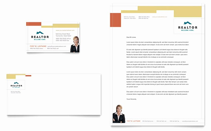 Real Estate Letterhead Templates Free Best Of Realtor & Real Estate Agency Business Card & Letterhead