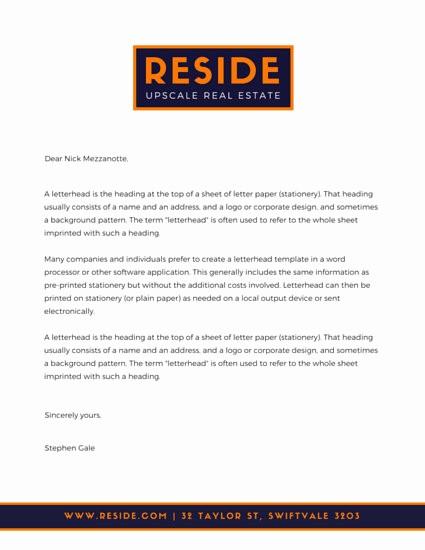 Real Estate Letterhead Templates Free Inspirational Business Letterhead Templates Canva