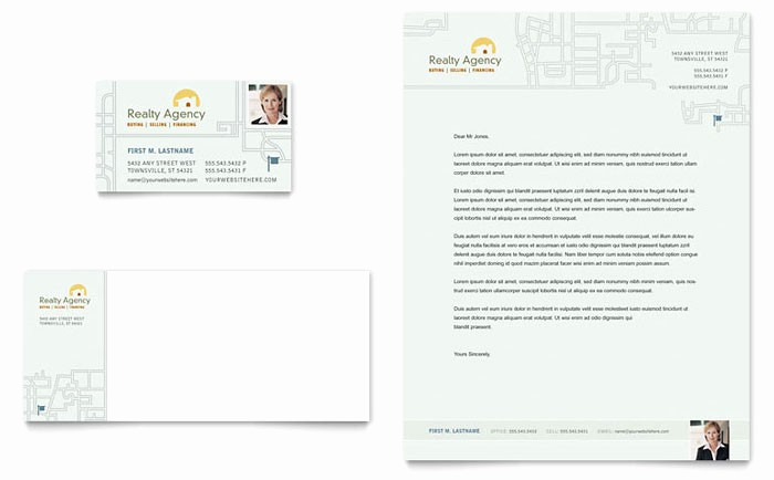 Real Estate Letterhead Templates Free New Real Estate Agent & Realtor Business Card & Letterhead