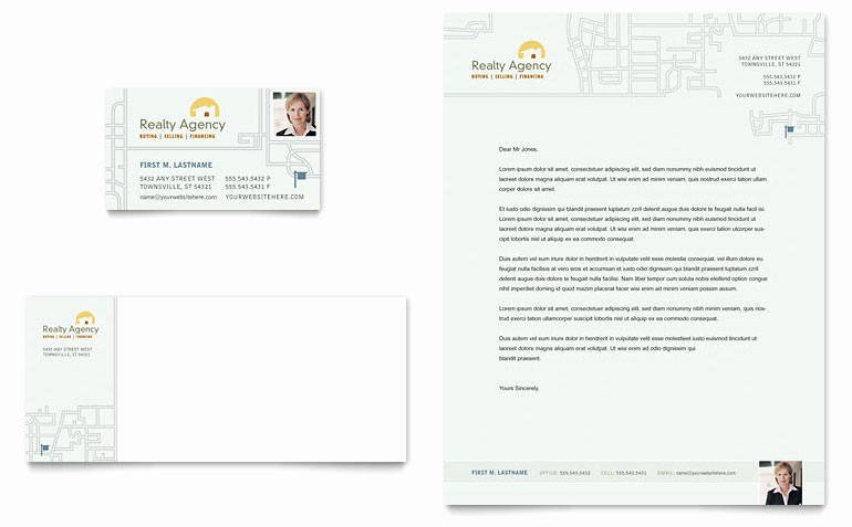 Real Estate Letterhead Templates Free New Real Estate Agent & Realtor Business Card & Letterhead