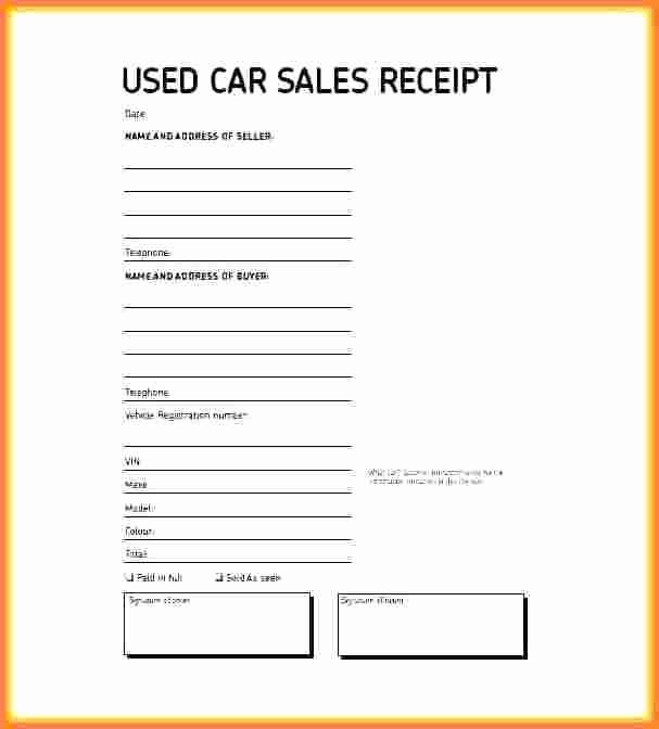 Receipt for Car Sale Private Luxury 15 Example Receipt for Private Car Sale Proposal Letter