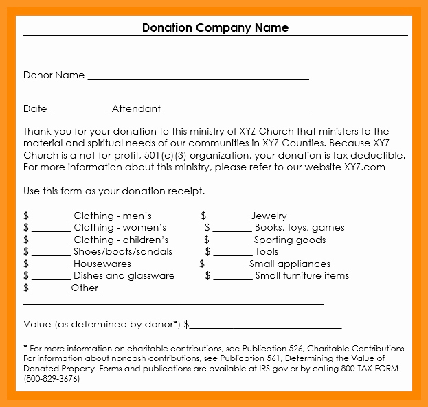 Receipt for Non Profit Donation Beautiful 5 6 Non Profit Donation Receipt Letter