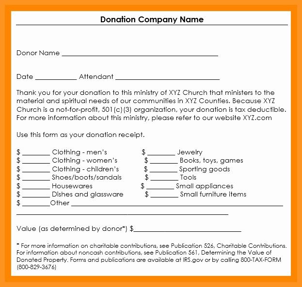Receipt for Non Profit Donation Beautiful 5 6 Non Profit Donation Receipt Letter
