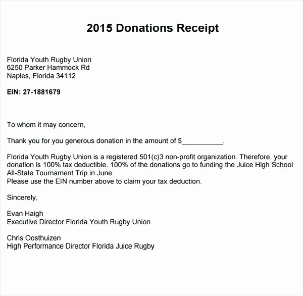 Receipt for Non Profit Donation Beautiful Non Profit Donation Receipt Free to Download Non Profit