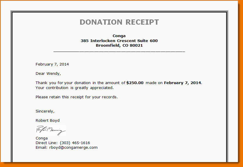 Receipt for Non Profit Donation Elegant 4 Non Profit Donation Receipt Template