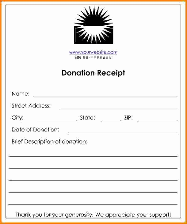 Receipt for Non Profit Donation Inspirational 8 Donation Receipt Template