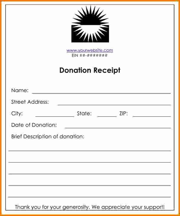 Receipt for Non Profit Donation Inspirational 8 Donation Receipt Template