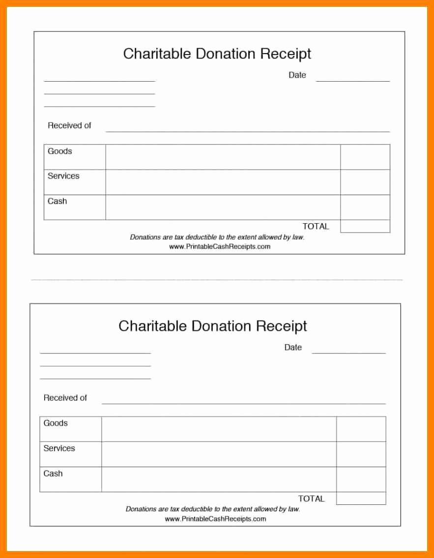 Receipt for Non Profit Donation Inspirational Donation Receipt Templates 8 In Kind Donation Receipt
