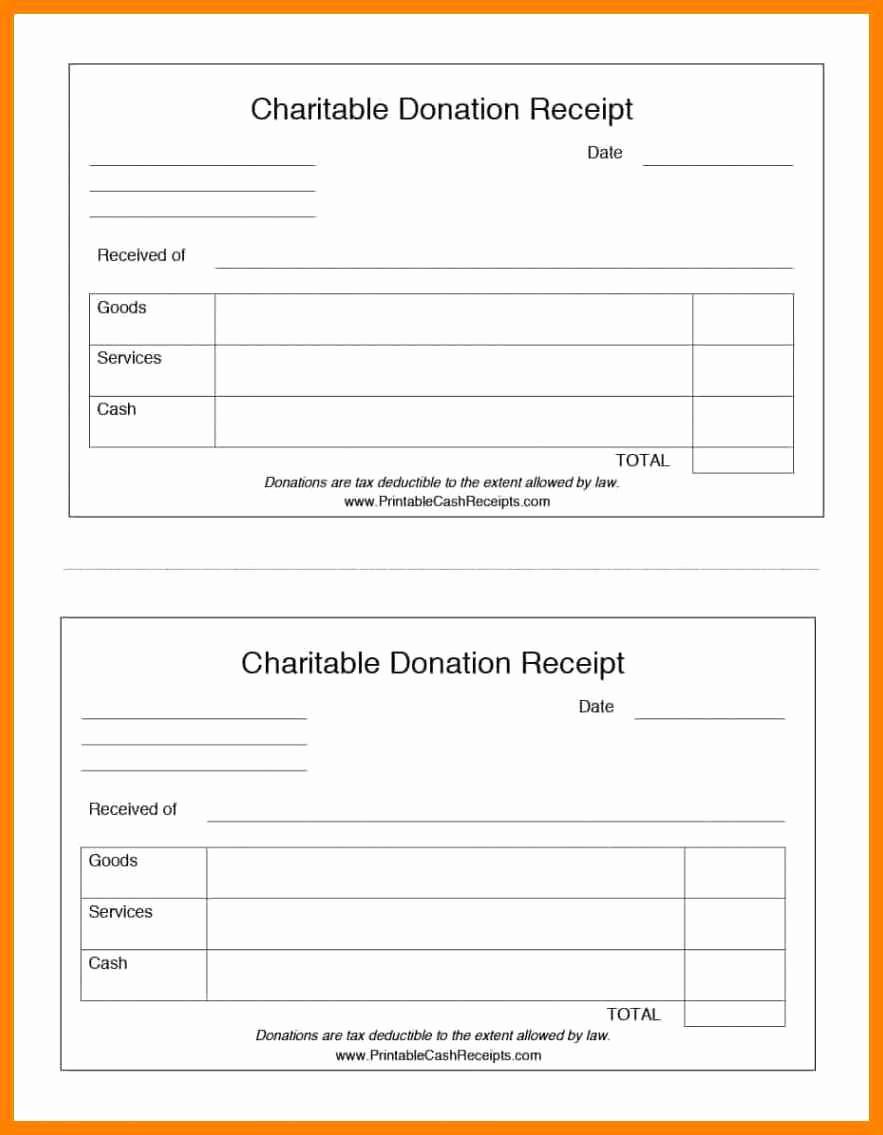 Receipt for Non Profit Donation Inspirational Donation Receipt Templates 8 In Kind Donation Receipt