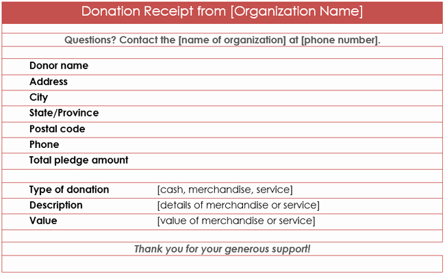Receipt for Non Profit Donation Luxury Donation Receipt Template 12 Free Samples In Word and Excel