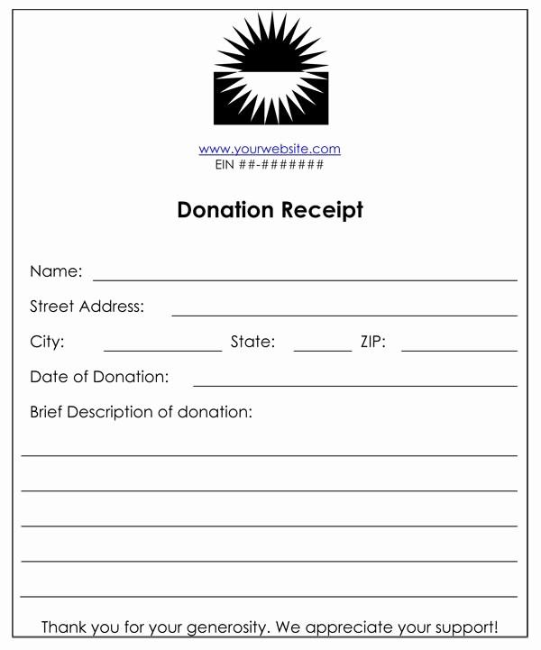 Receipt for Non Profit Donation Luxury Non Profit Donation Receipt