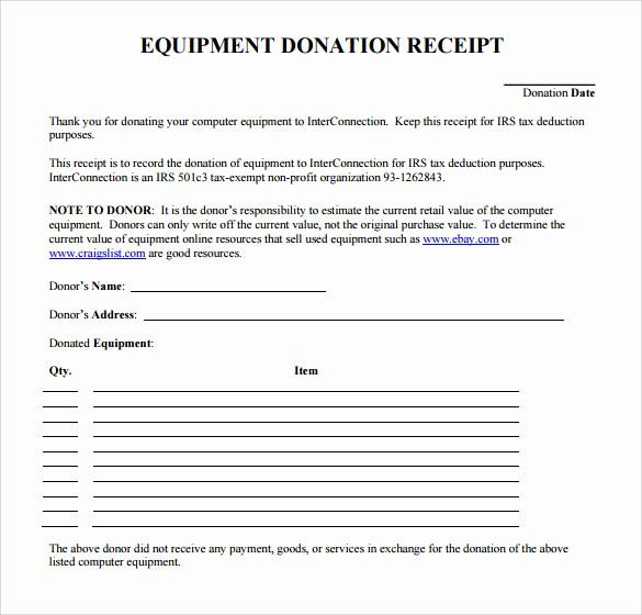 Receipt for Non Profit Donation New 23 Donation Receipt Templates – Pdf Word Excel Pages