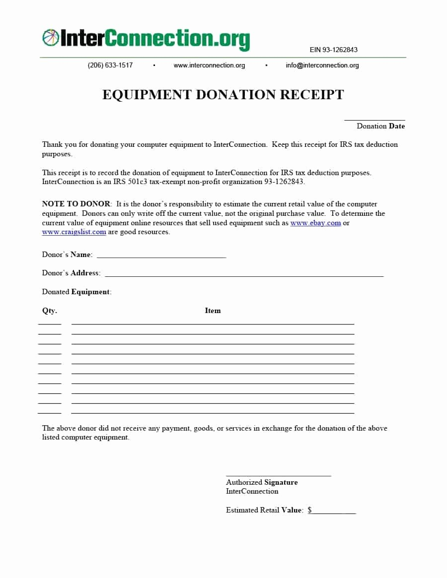 Receipt for Non Profit Donation New 40 Donation Receipt Templates & Letters [goodwill Non Profit]