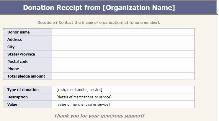 Receipt for Non Profit Donation New Receipt Template Category Page 2 Efoza