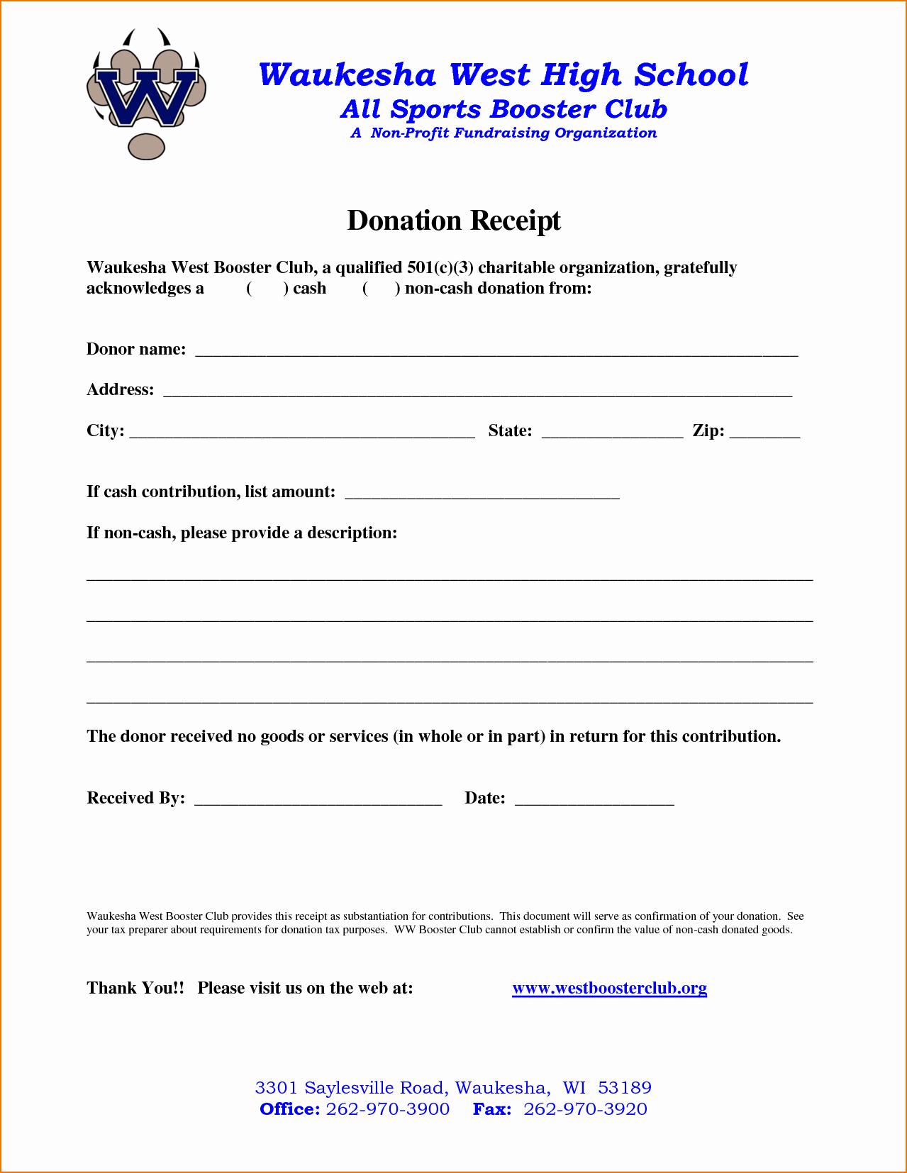 Receipt for Non Profit Donation Unique 4 Non Profit Donation Receipt Template