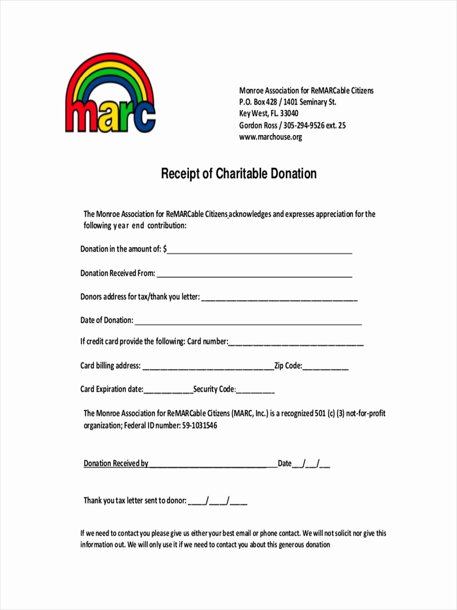 Receipt for Non Profit Donation Unique 9 Donation Receipt Examples & Samples Pdf Word Pages