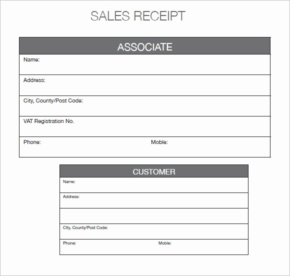 Receipt for Purchase Of Car Awesome 9 Sales Receipt Templates – Free Samples Examples