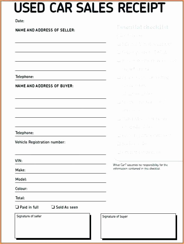 Receipt for Purchase Of Car Awesome Receipt for Sale Of Car – Arbitra Radingbondub