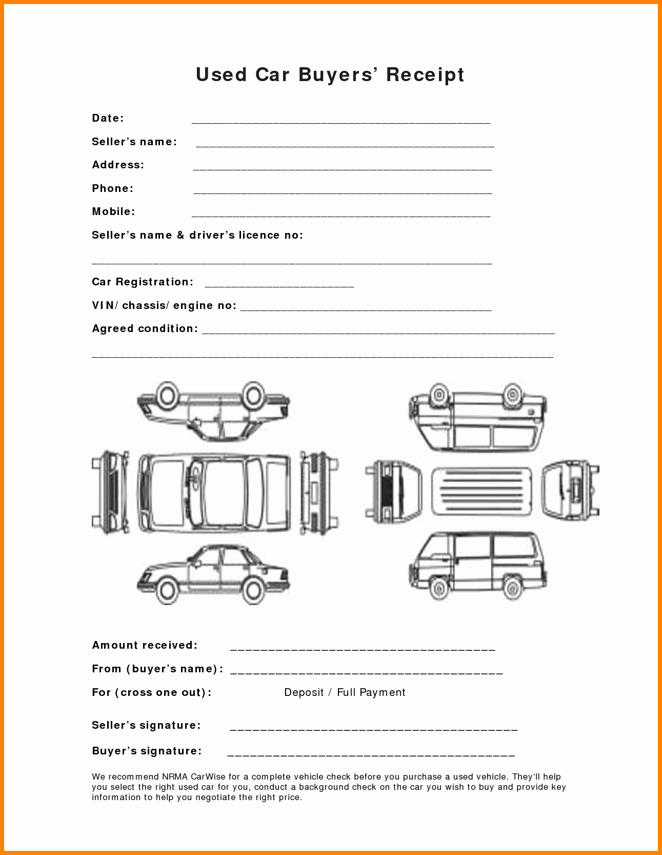 Receipt for Purchase Of Car Best Of 8 How to Write A Receipt for Selling A Car
