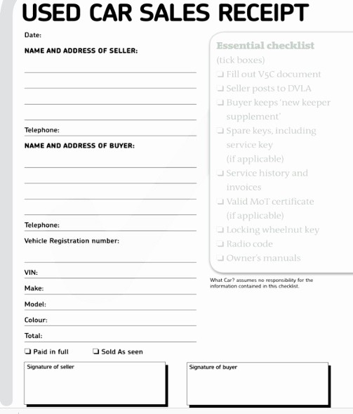Receipt for Purchase Of Car Best Of the Paperwork — Eureka Car Sales Ireland
