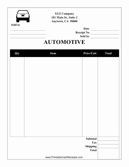 Receipt for Purchase Of Car Best Of This Automotive Receipt is Designed to Be Used by A Garage