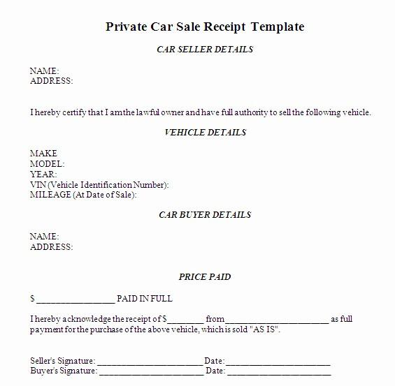Receipt for Purchase Of Car Elegant Car Sales Receipt Car Sale Receipt Template Australia Images